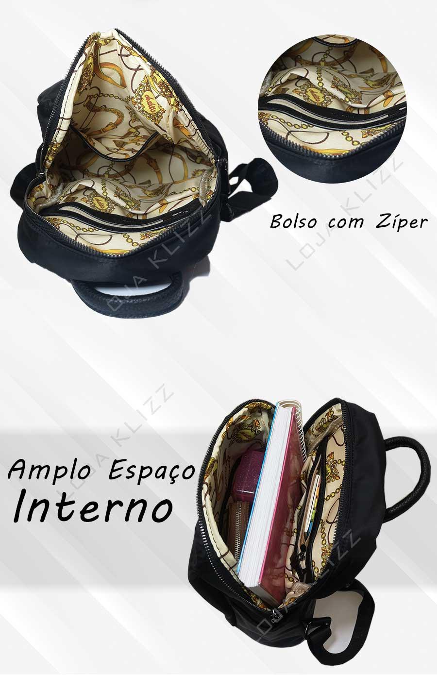 Mochila Bolsa Antifurto Feminina Impermeável Mochilinha CH01