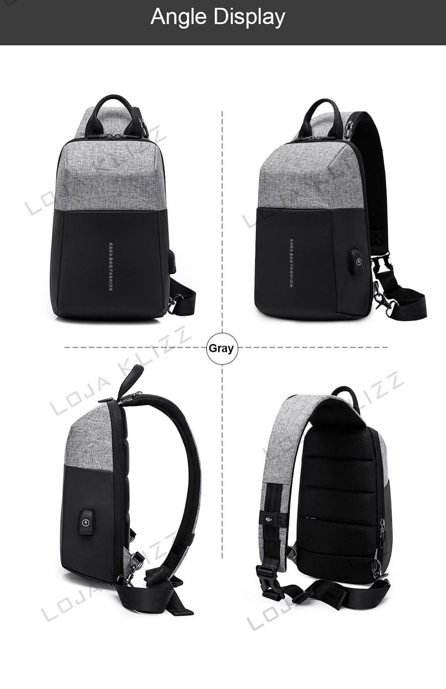 Mochila Compacta Antifurto Usb Crossbody Unissex Waterproof  - KLIZZ