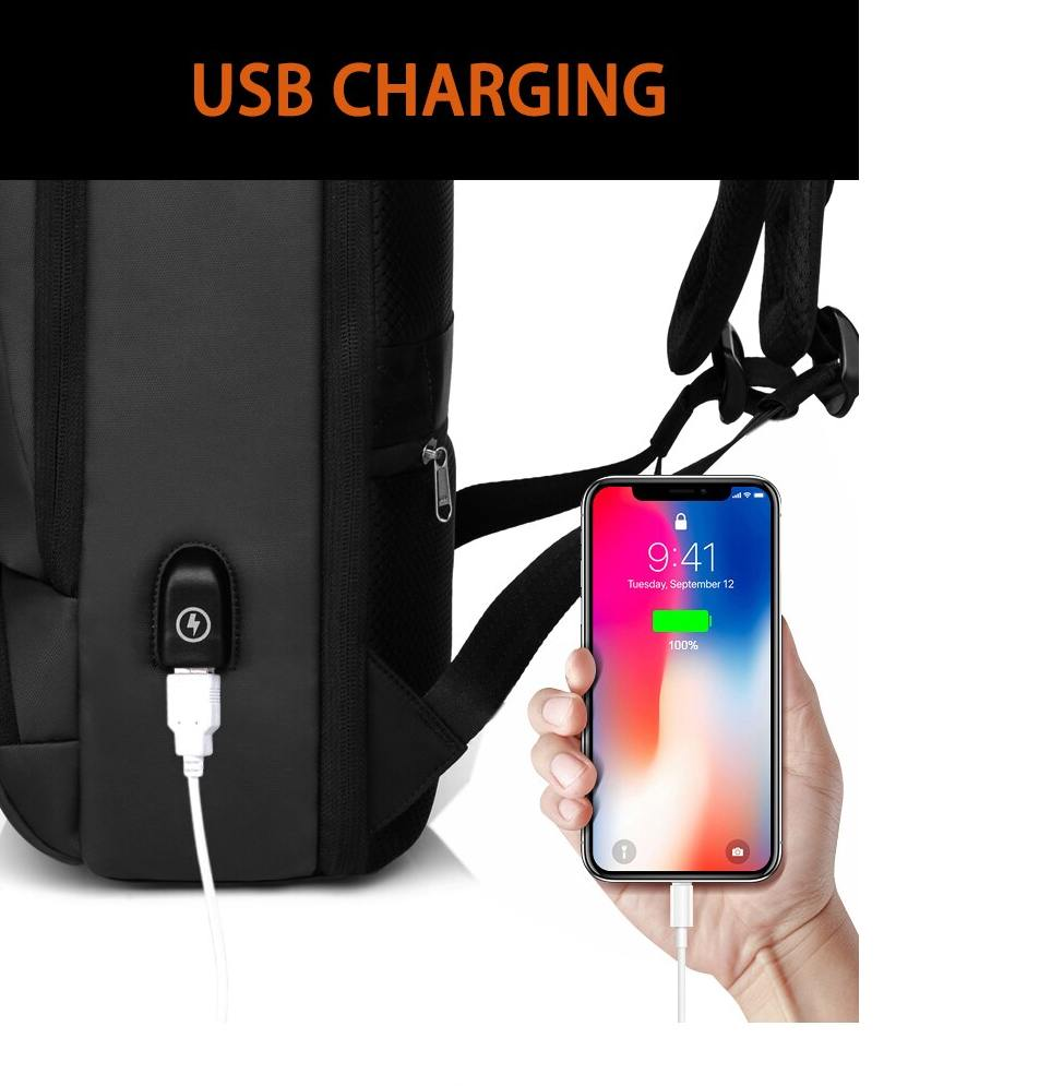 Mochila K.K Antifurto Usb Notebook Impermeável Executiva Mala  - KLIZZ