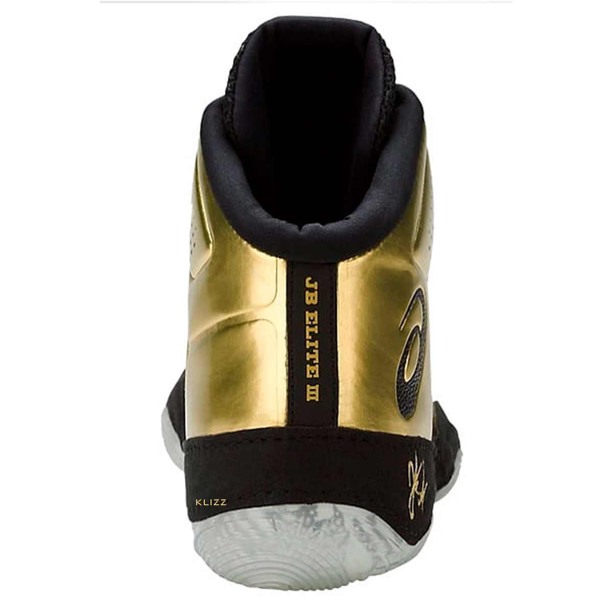 Tênis Asics JB Elite 3 Rich Gold Dourado Wrestling Luta Livre Masculino