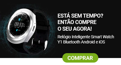 superoff - relógio inteligente smart watch y1 bluetooth
