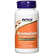 Bromelain com 2400 GDU 500mg Now Foods - 60 Capsulas