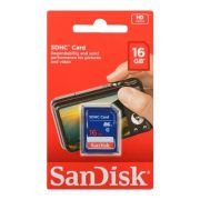 CARTÃO SD 16GB PARA CÂMERA CLASSE 4 SDHC SANDISK