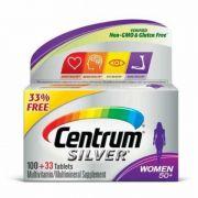 Centrum Silver Para Mulher +50 Anos Multivitamínico – 133 (100 + Bônus 33) Tabletes