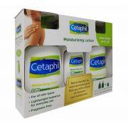 Loção Hidratante Cetaphil kit econômico 2 frascos de 591ml e 1 de 188ml de bônus