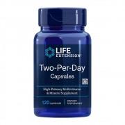 Multivitamínico Two Per Day Life Extension - 120 Cápsulas