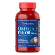 Omega-3 Fish Oil 1000mg Puritans Pride (300mg Active Omega-3) - 100 softgels