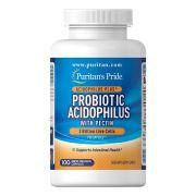 Probiotic Acidophilus Puritan's Pride 3 Bilhões com Pectin - 100 caps