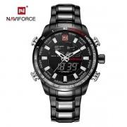 Relógio Masculino Naviforce 9093 BBW Esportivo Racer - Preto
