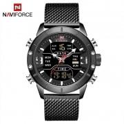 Relógio Masculino Naviforce NF9153 BB Pulseira em Aço Inoxidável Â- Preto