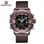 Relógio Masculino Naviforce NF9153 CECE Pulseira em Aço Â- Marsala e Dourado Rose
