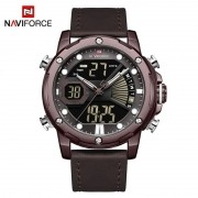 Relógio Masculino Naviforce NF9172 CECEDBN Pulseira em Couro Â- Marsala