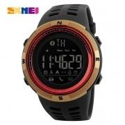 Relógio Masculino Skmei 1250 Bluetooth - Vermelho Dourado
