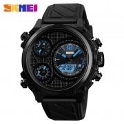 Relógio Masculino Skmei 1359 BU Pulseira em Silicone Â- Preto e Azul