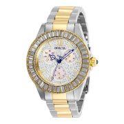 Relógio Feminino Invicta Angel Modelo 28446 com Cristais - Inoxidável e Dourado