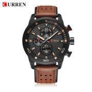 Relógio Masculino Curren 8250 BBY Pulseira em Couro – Preto e Marrom