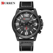 Relógio Masculino Curren 8314 BW Pulseira em Couro – Preto