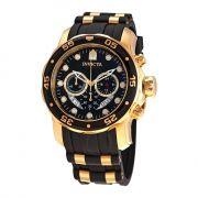 Relógio Masculino Pro Dive Cronógrafo Modelo 6981 Dourado