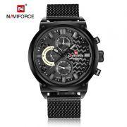 Relógio Masculino Naviforce 9068 BGYB Pulseira em Aço - Preto e Cinza