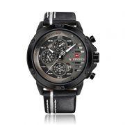 Relógio Masculino Naviforce 9110 BWB Esportivo Casual - Preto com Branco