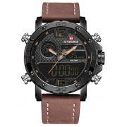 Relógio Masculino Naviforce 9134 BY Esportivo - Preto Marron