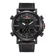 Relógio Masculino Naviforce 9135 Esportivo Elegante - Preto