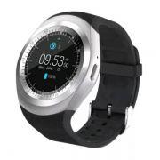 Relógio Inteligente Y1 Bluetooth Android & Ios - Preto com Prata