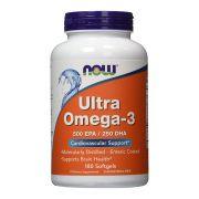 Ultra Omega-3 500 EPA 250 DHA Now Food - 180 Softgels