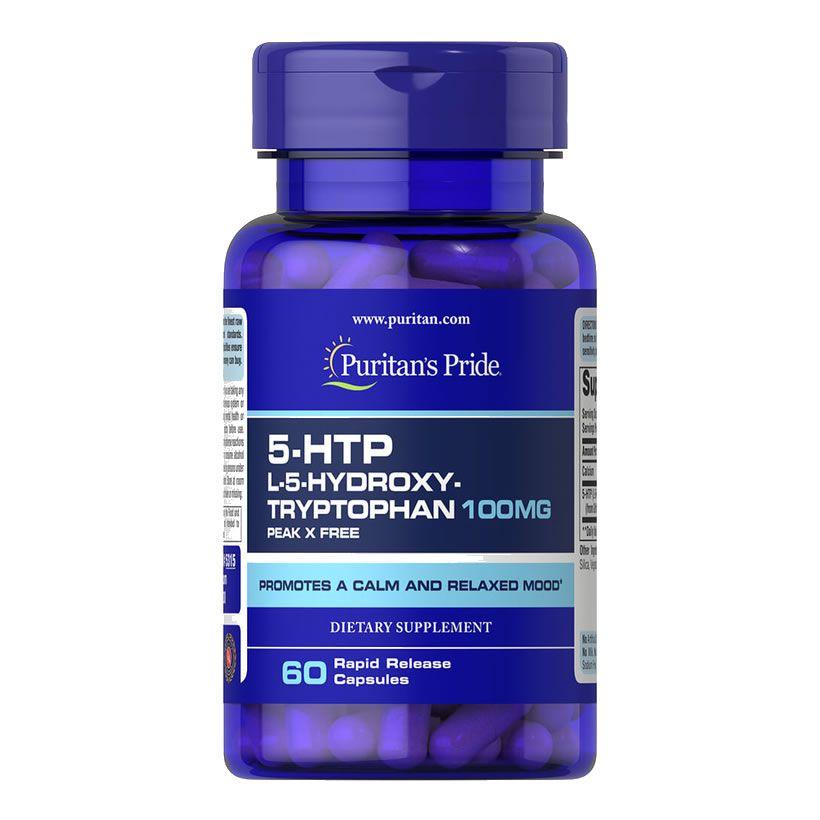 5-HTP 100mg Griffonia Simplicifolia - Puritans Pride 60 Caps