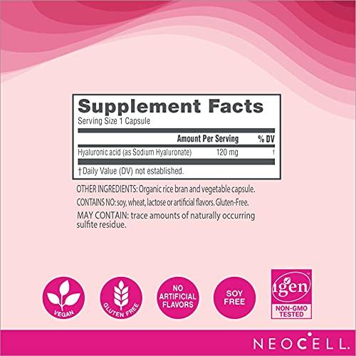 Acido Hialuronico para Hidratação Diaria da Pele 120mg Neocell - 60 Capsulas