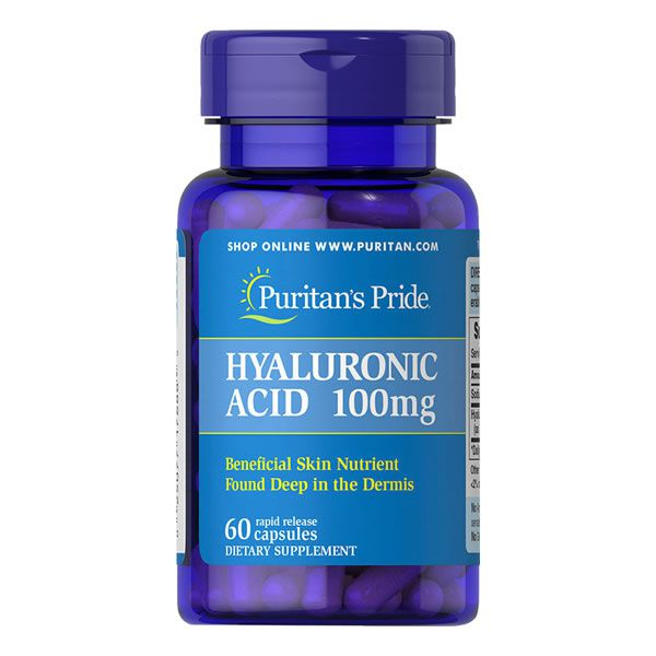 Ácido Hiarulônico 100 Mg Puritans Pride 60 Cápsulas