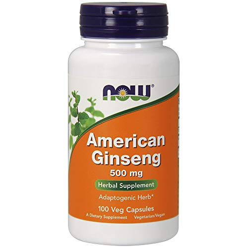 American Ginseng 500mg Now Foods - 100 Capsulas