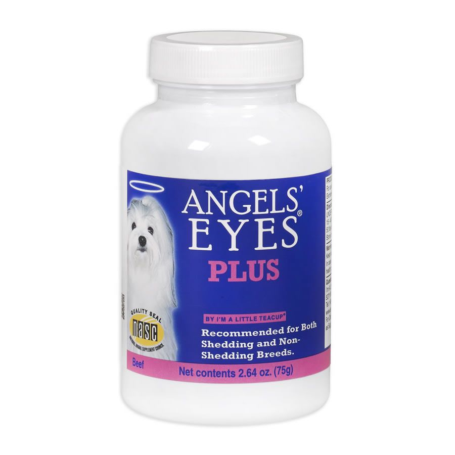 Angels Eyes Natural Plus Cães Elimina Mancha de Lágrimas Sabor Carne -75g