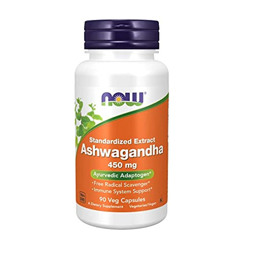 Ashwagandha (Withania somnifera) 450mg Now Foods - 90 Capsulas