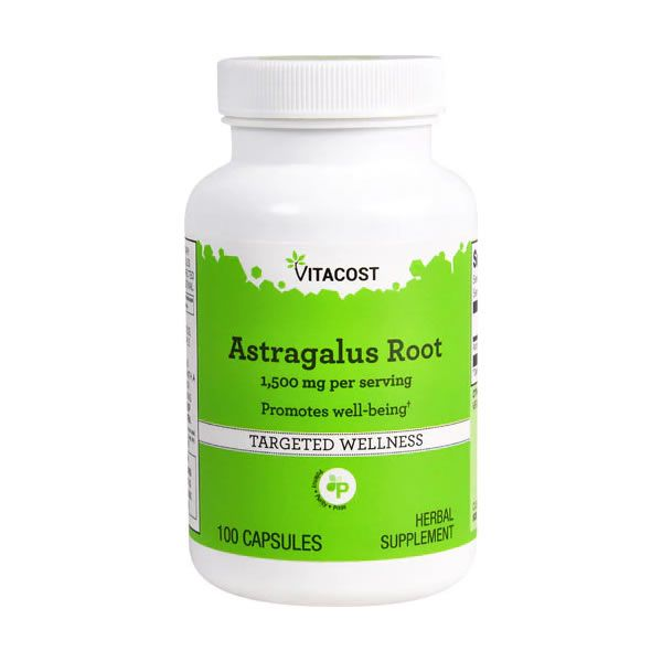 Astragalus Root 1500mg Vitacost - 100 Cápsulas