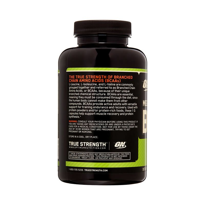 BCAA 1000mg Optimum Nutrition - 200 Capsulas