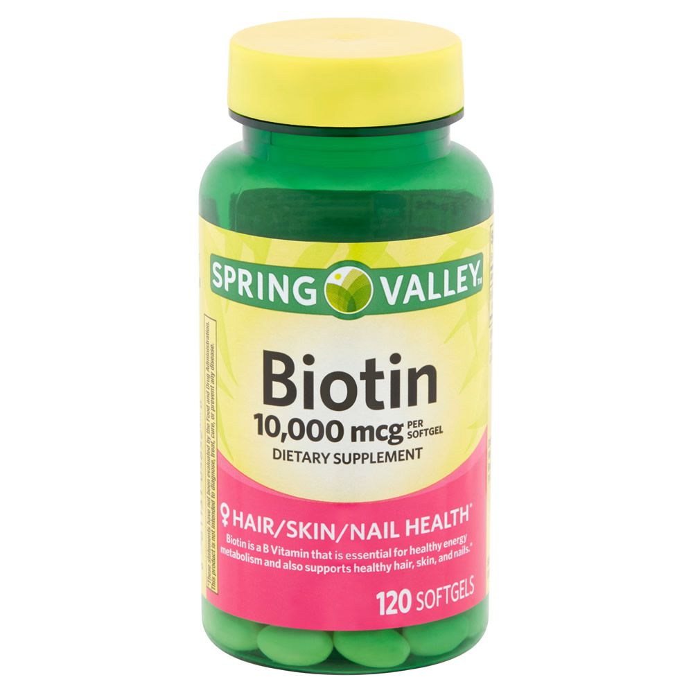 Biotina 10.000 Mcg Spring Valley - 120 Capsulas