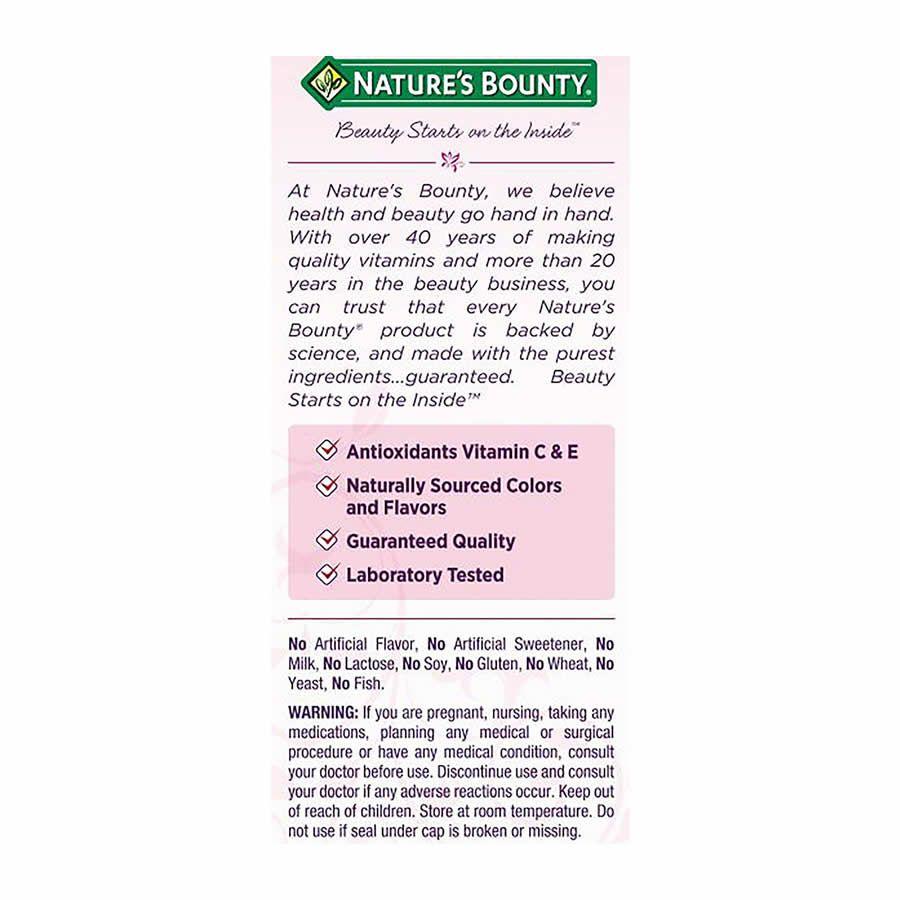 Cabelo Pele e Unhas Natures Bounty 2500mcg com Biotina Morango - 230 Gummies