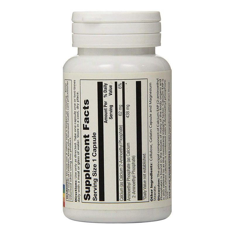 Calcium Eap 500mg Solaray - 60 Cápsulas