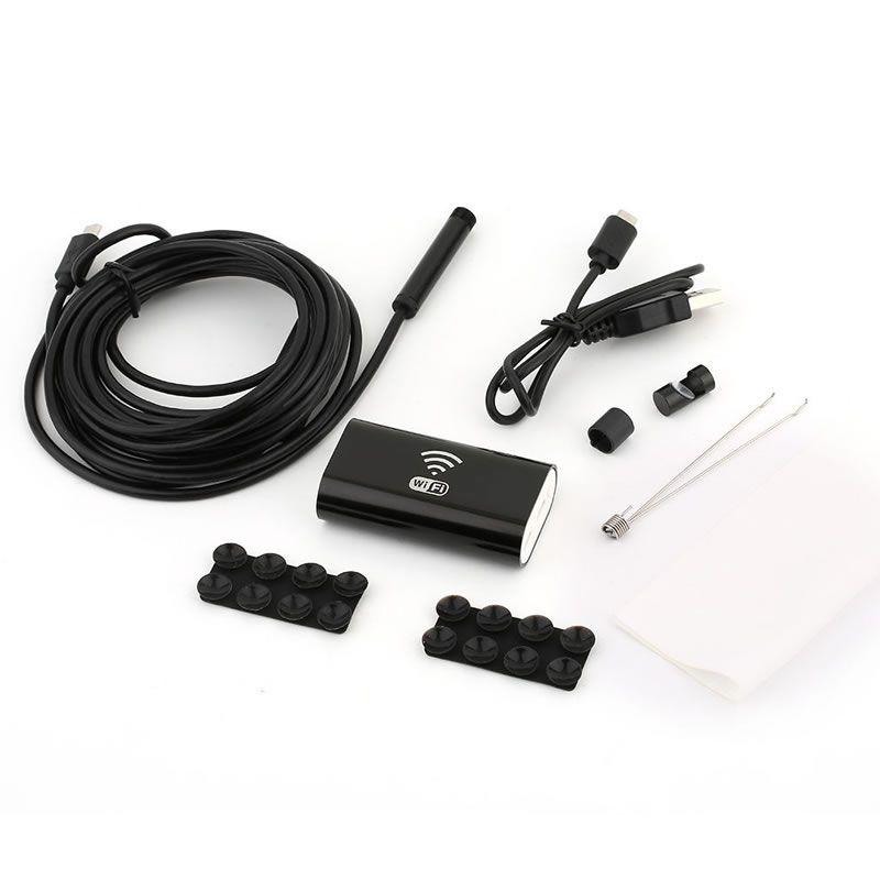 Mini Câmera de Inspeção Wi-Fi Endoscópio USB para Android & Ios