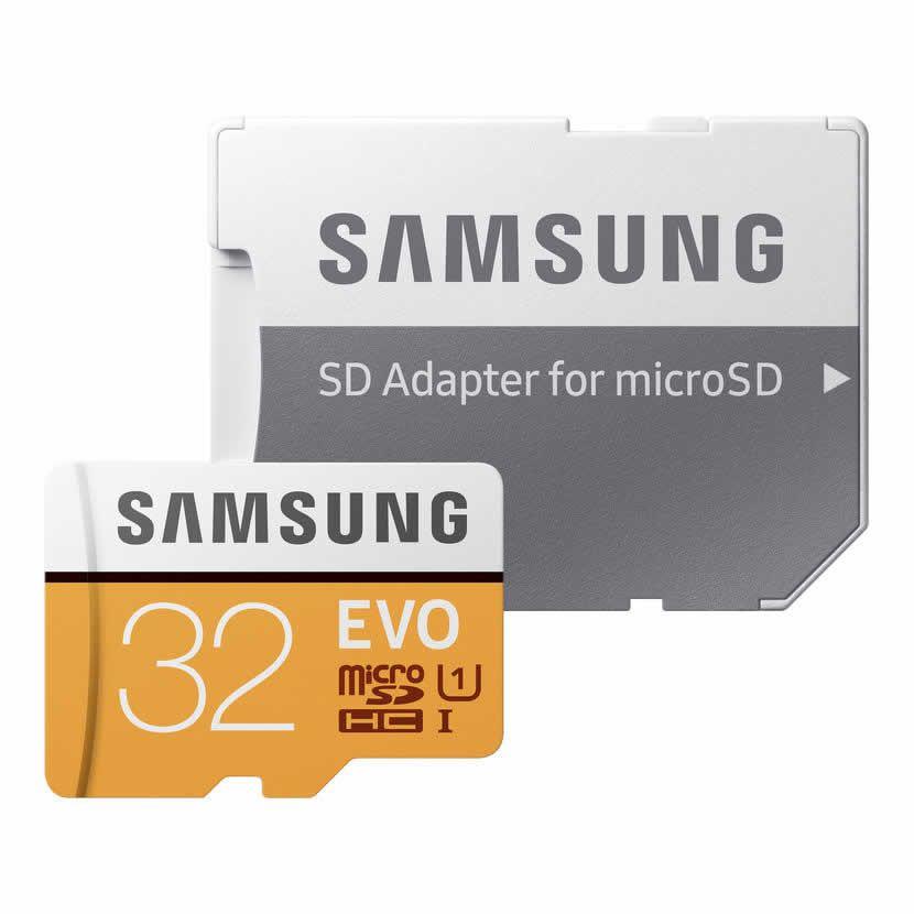 Cartão Memória Samsung Microsdhc 32GB EVO UHS-I com Adaptador