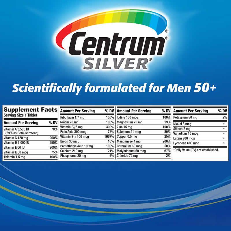 Centrum Men Silver Homem Acima de 50 Anos - 250 Cápsulas