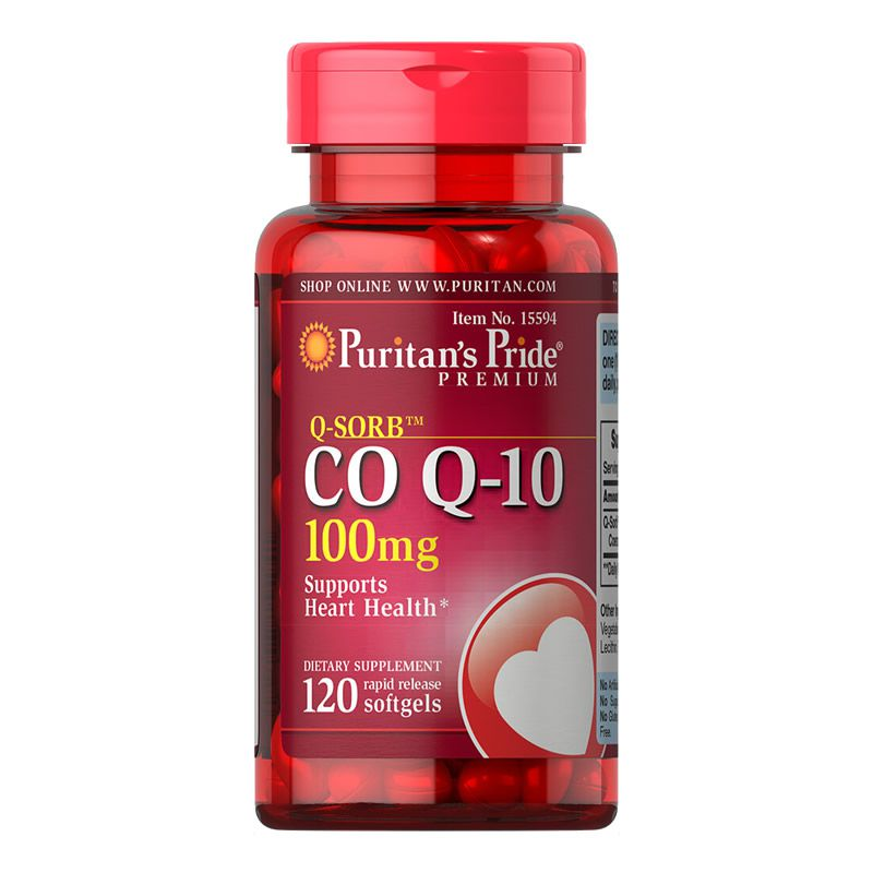 Coenzima CO Q10 100mg Puritans Pride - 120 Softgels