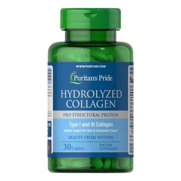 Colágeno hidrolisado 1000 mg Puritans Pride 30 Cápsulas
