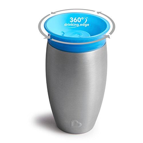 Copo Aço Inox Miracle 15h Refrigeração Anti-derrame 297ml Munchkin - Azul