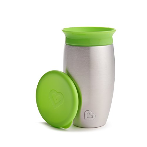 Copo Aço Inox Miracle 15h Refrigeração Anti-derrame 297ml Munchkin - Verde