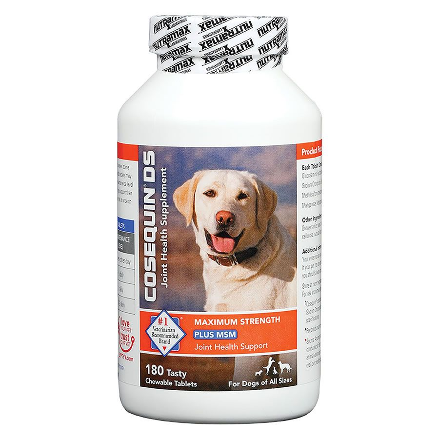 Cosequin Ds Plus Nutramax Suplemento Canino - 180 Tabletes