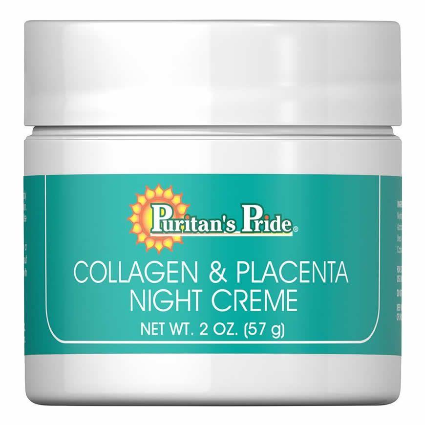 Creme Colágeno e Placenta de Uso Noturno Puritans Pride - 57g