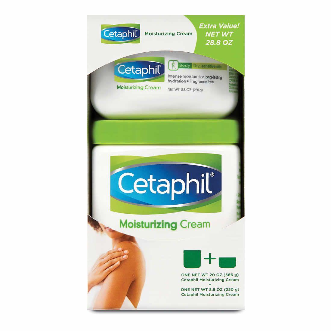 Creme Hidratante Cetaphil 566g + 250g embalagem econômica - Kit 2 Potes