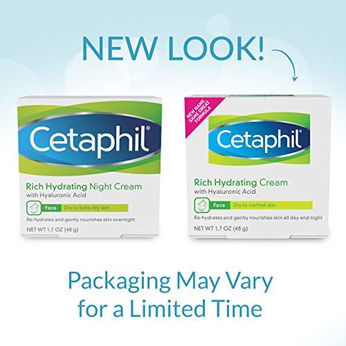 Creme Hidratante para Rosto para Pele Seca a Normal com Acido Hialurônico Cetaphil - 48g